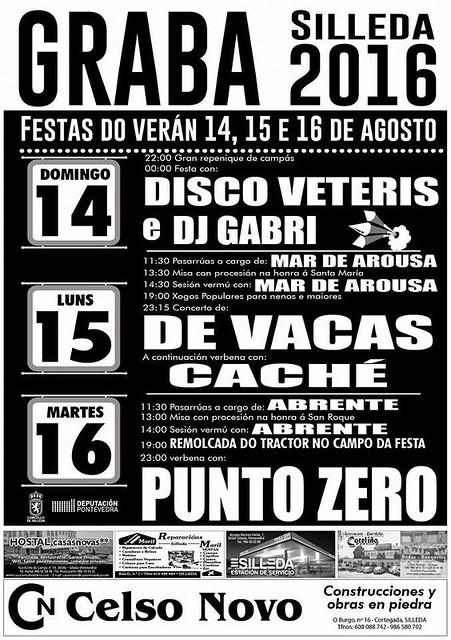 Silleda 2016 - Festas do Verán en Graba - cartel