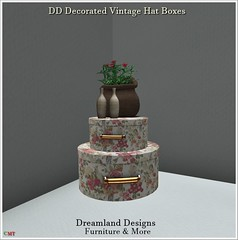 DD Decorated Vintage Hat Boxes_001a