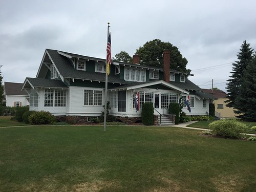 The Bradley House, Prescue Isle County Historical Museum.  Rogers City Michigan, August 13 2016.