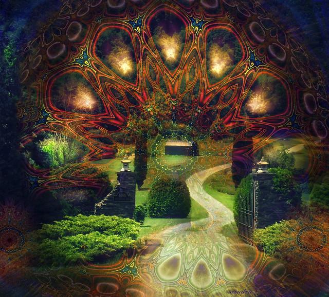 ..through the gate..