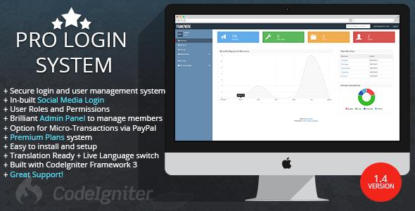Pro Login User Management System - PHP v1.4