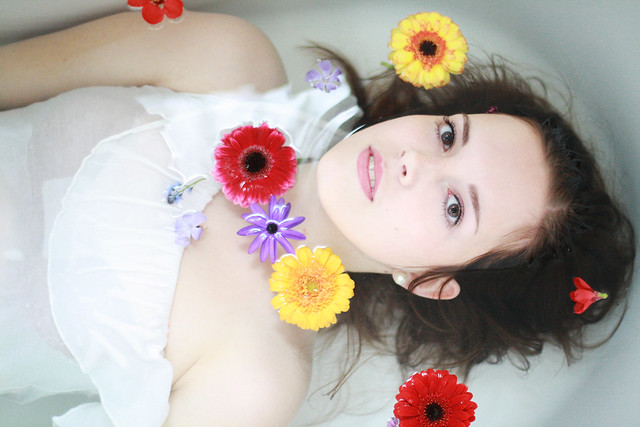A bath tub full of flowers - Stunning Fine Art Portraits