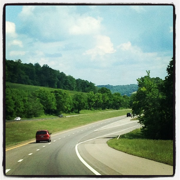 Driving home through the hills of Tennessee