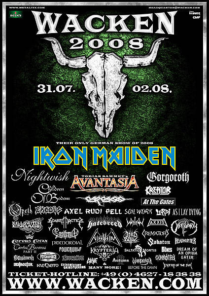 July 31 - August 2 - 2008 Wacken Open Air 2008