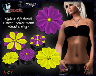 *P* Flower Rings ~Green&Purple~