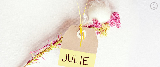 DIY Cake Pop Favor with Name Tag