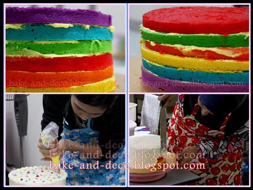 Italian Rainbow Cake & Red Velvet Cake (Fully Hands On) ~ 3 April 2012