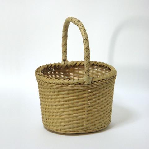 みがき竹かご/楕円(小)