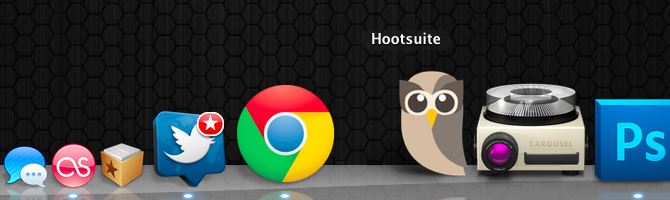 Drag the distinctive Hootsuite icon to your dock.