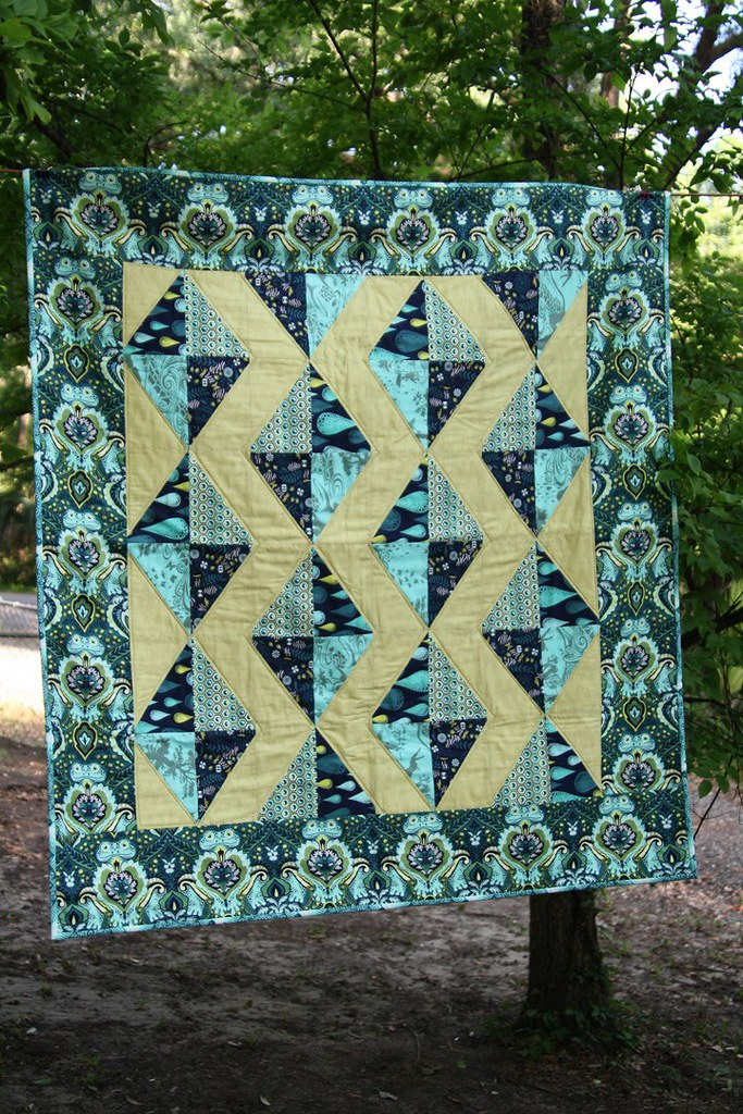 Baby quilt for Asher