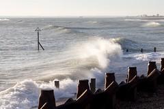 Waves crashing at Hayling
