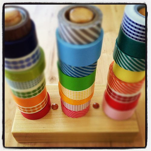 2 pm - organizing some washi tape. #10on10