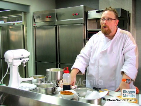 Chef Chris Locher demonstrated how to make cheesecakes