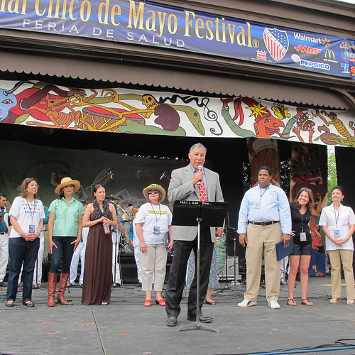 USDA Under Secretary for Marketing and Regulatory Programs, Ed Avalos, kicks off the National Cinco de Mayo Festival ¡Salud en Cinco de Mayo! with welcoming remarks.
