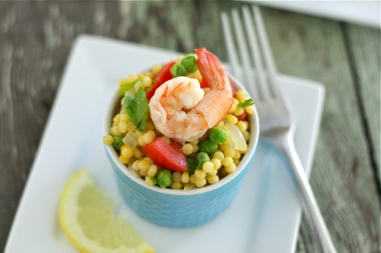 Warm Paella Couscous Salad with Shrimp 2