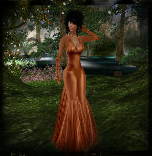 :: PurpleMoon :: Christina Rose Gown in Orange by Cherokeeh Asteria
