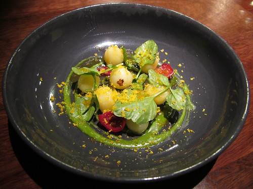 Potato, quandong, watercress, yolk