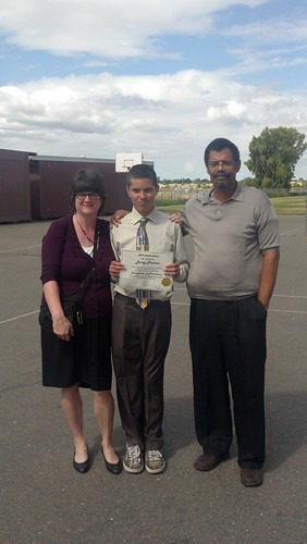 The Family at 8th Grade Promotion