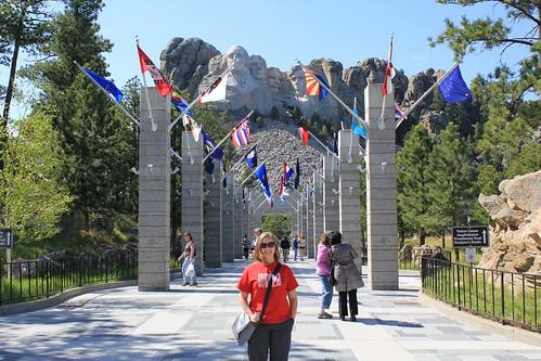 Laura at Mount Rushmore