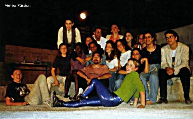 spectacle de théâtre de lycéens à Marseille par la chaleur du 30 mai 1986 météopassion