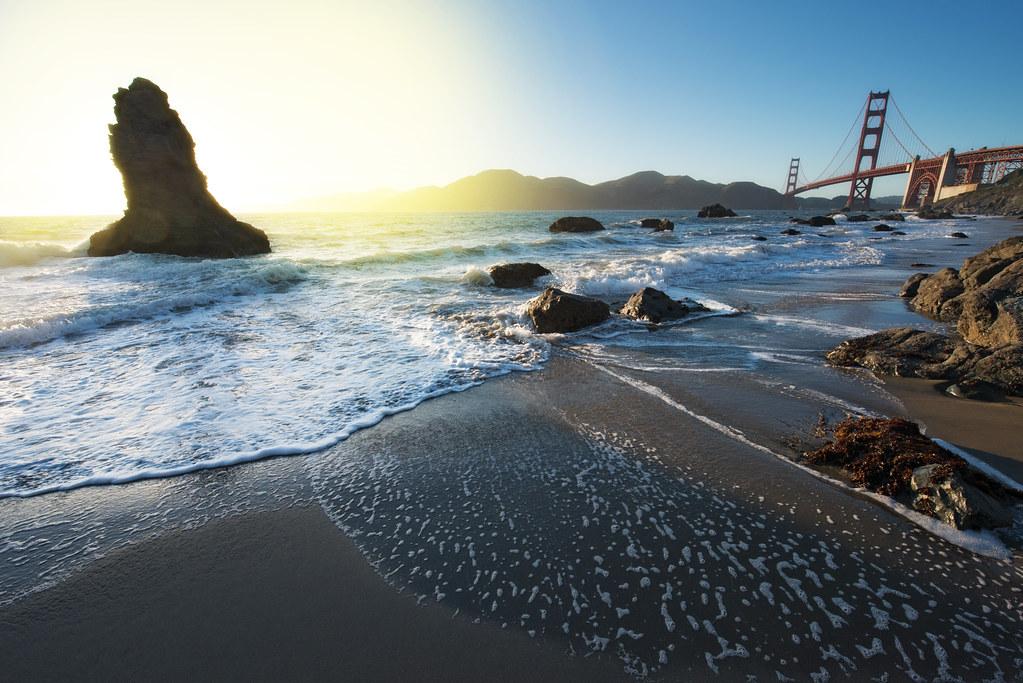 The Golden Gate Bridge from Marshall Beach