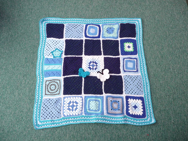 Thanks to 'jean nock' for assembling this Blanket and for everyone making the Squares!