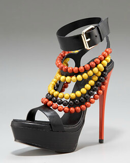 Burberry Beaded Platform Sandal NM Retail $795 on sale for $532