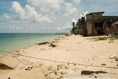 Effects of Sand Erosion in Lanas, Carabao Island, Romblon