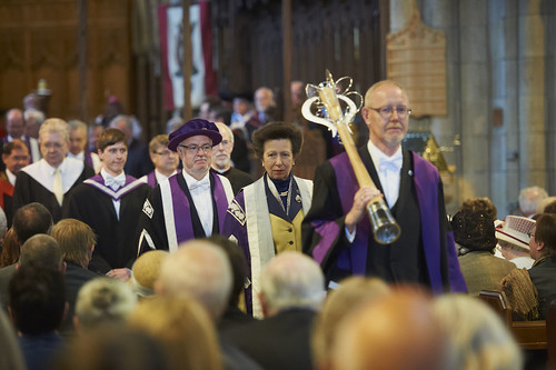 Mace Bearer and Chancellor Lead the Academic Procession