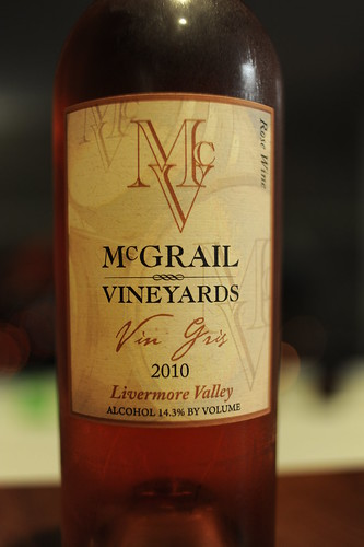 Rose, McGrail Vineyards, 2010