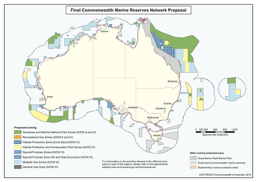 Australia marine reserves network proposal 2012