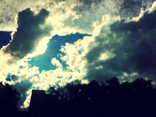 blurry sky
