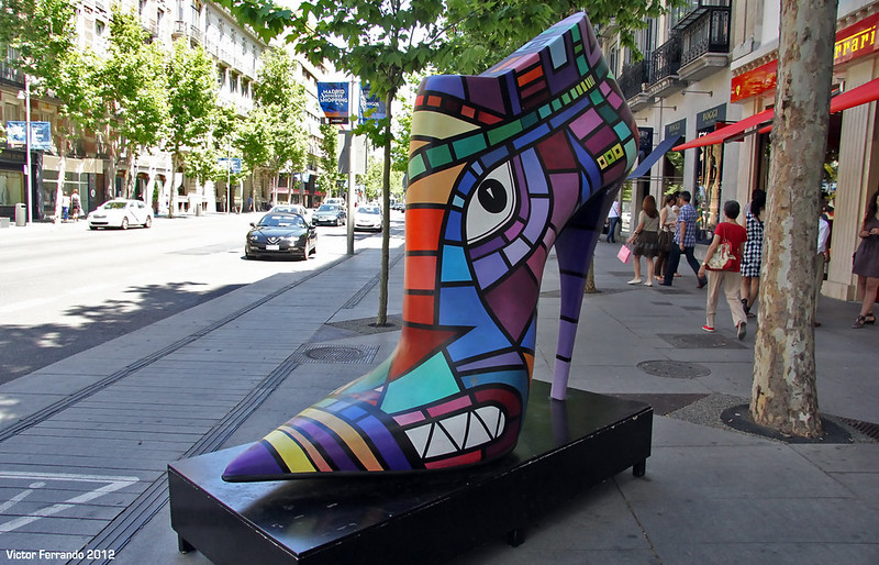Shoe Street Art - Madrid