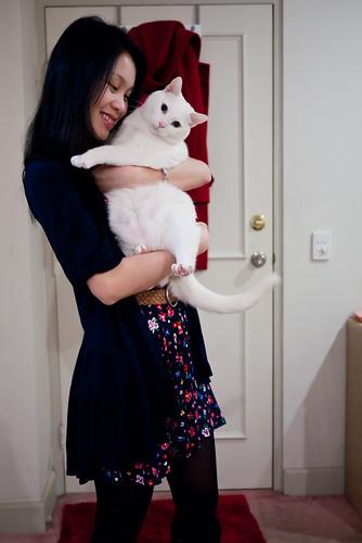 Warm furry hug