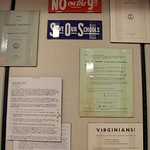 "Case 1 of ""The Virginia Way of Life Must Be Preserved"" Exhibit"