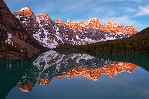 """Epic"" - Lake Moraine Sunrise, Banff Alberta Canada"