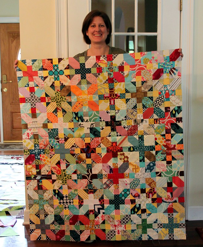Jessica's beautiful  X & + quilt top