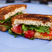Grilled Cheese with Cherry Tomatoes and Arugula