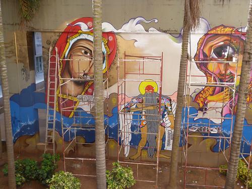 Mural Italia Brasil by OMINO71