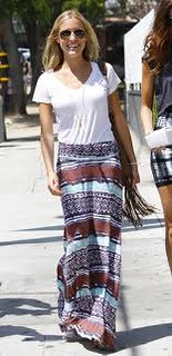 Kristin Cavallari Maxi Skirt Celebrity Style Women's Fashion