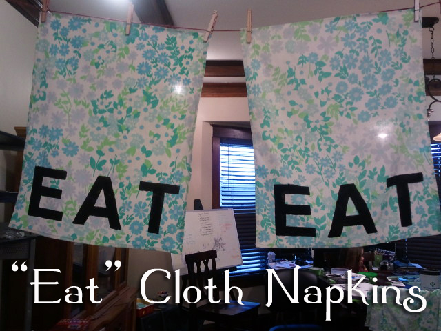 """Eat"" Cloth Napkins"