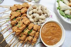 meal, meat, food, dish, cuisine, satay,