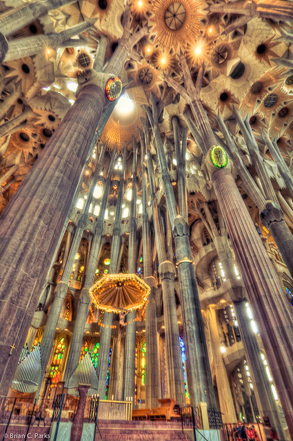 La sagrada familia interior in barcelona spain flickr - Sagrada familia interieur ...
