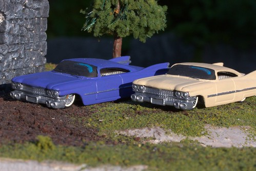 Front of the two '59 Cadillacs