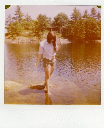 summer Polaroid - by the lake