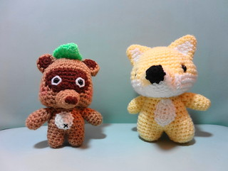 Amigurumi Civet Cat and Fox