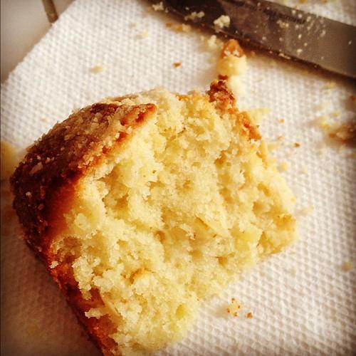 Slice of almond cake :D nomnom