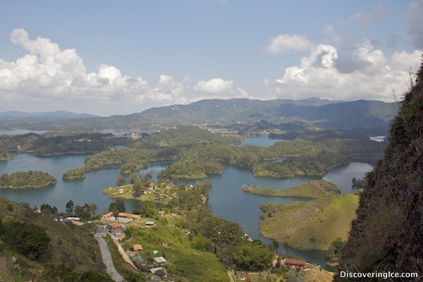 Views on the way up at El Peñol, Guatapé, Colombia