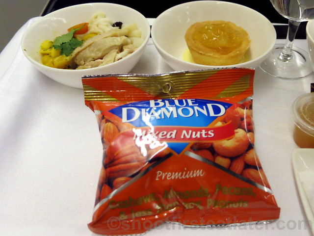 Philippine Airlines Business Class meal Mnl-Hkg-Mnl- Blue Diamond mixed nuts