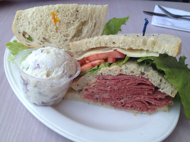 Corned beef with Swiss cheese sandwich - Sherman's Deli and Bakery